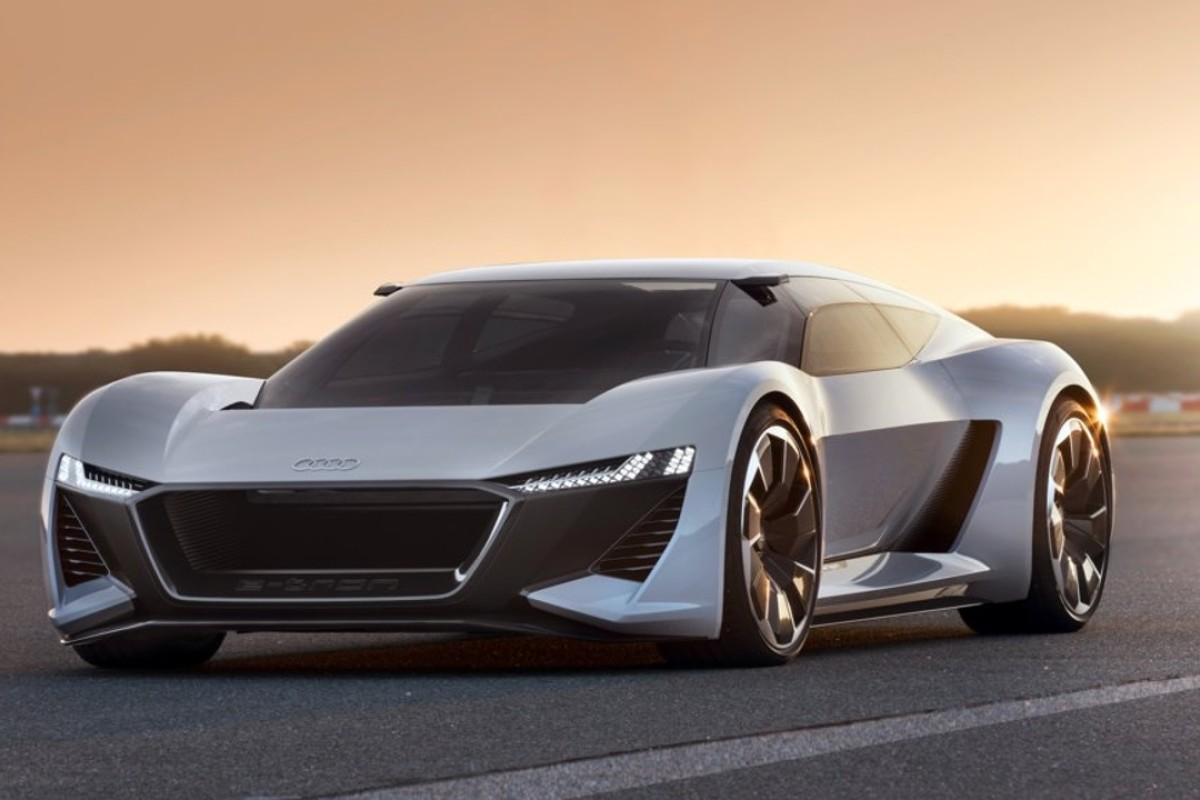 Audi's PB18 e-tron concept supercar was unveiled at a car event in Pebble Beach, California, on Thursday and will also be featured at Sunday's prestigious classic car show, Pebble Beach Concours d'Elegance. Photo: Audi