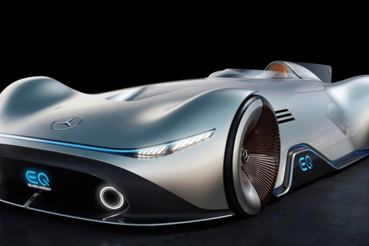 Back To The Future For Mercedes EQ Silver Arrow Econcept Design - Mercedes benz car show