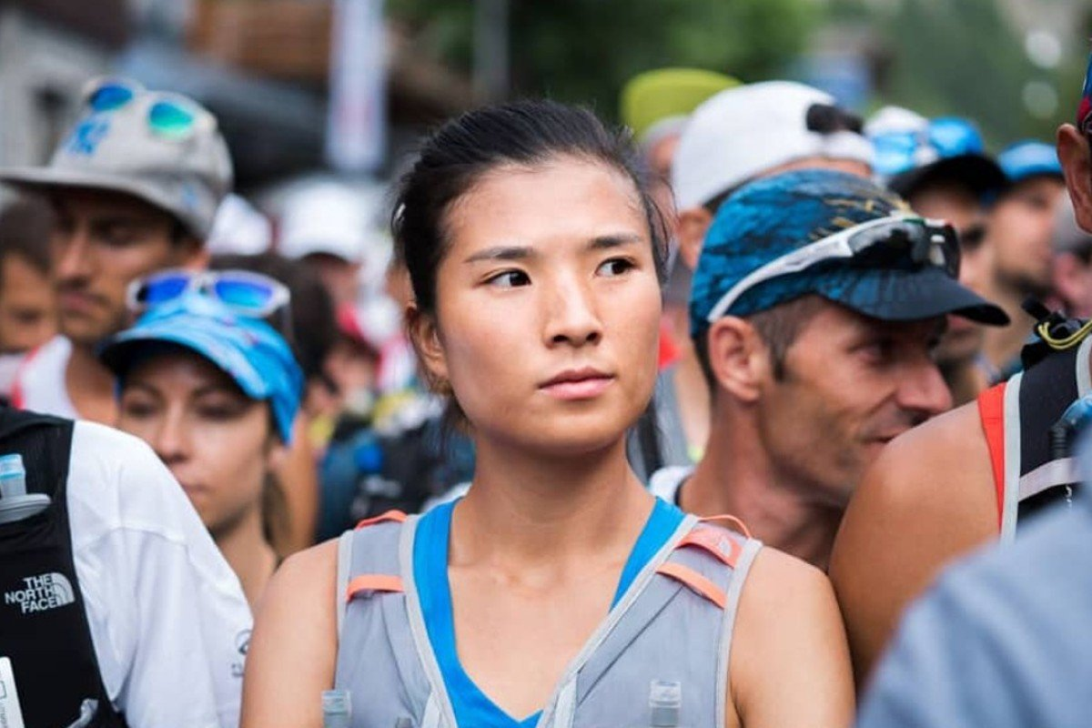 Yao Miao at the start of the CCC, and about to make history. Photo: Jack Atkinson