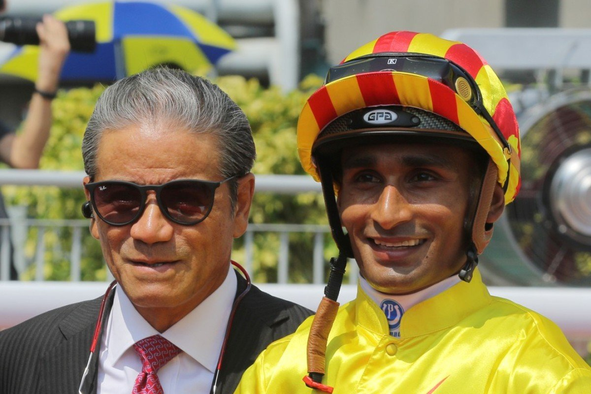 Tony Cruz and Karis Teetan are all smiles after one of their winners. Photos: Kenneth Chan
