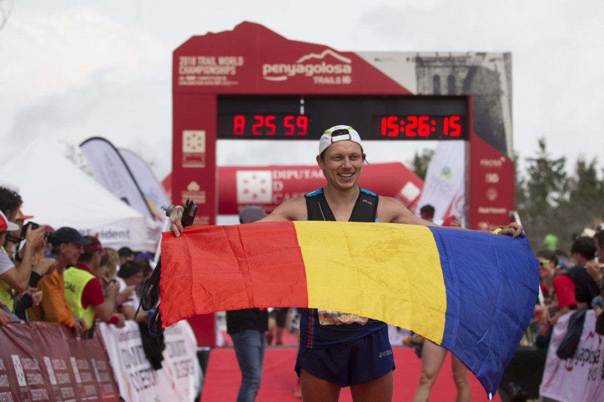 Representing Romania in this year's Trail Running World Championships Penyagolosa Trails in Spain, Robert Hajnal finished 15th. Photo: Gabriel Boia