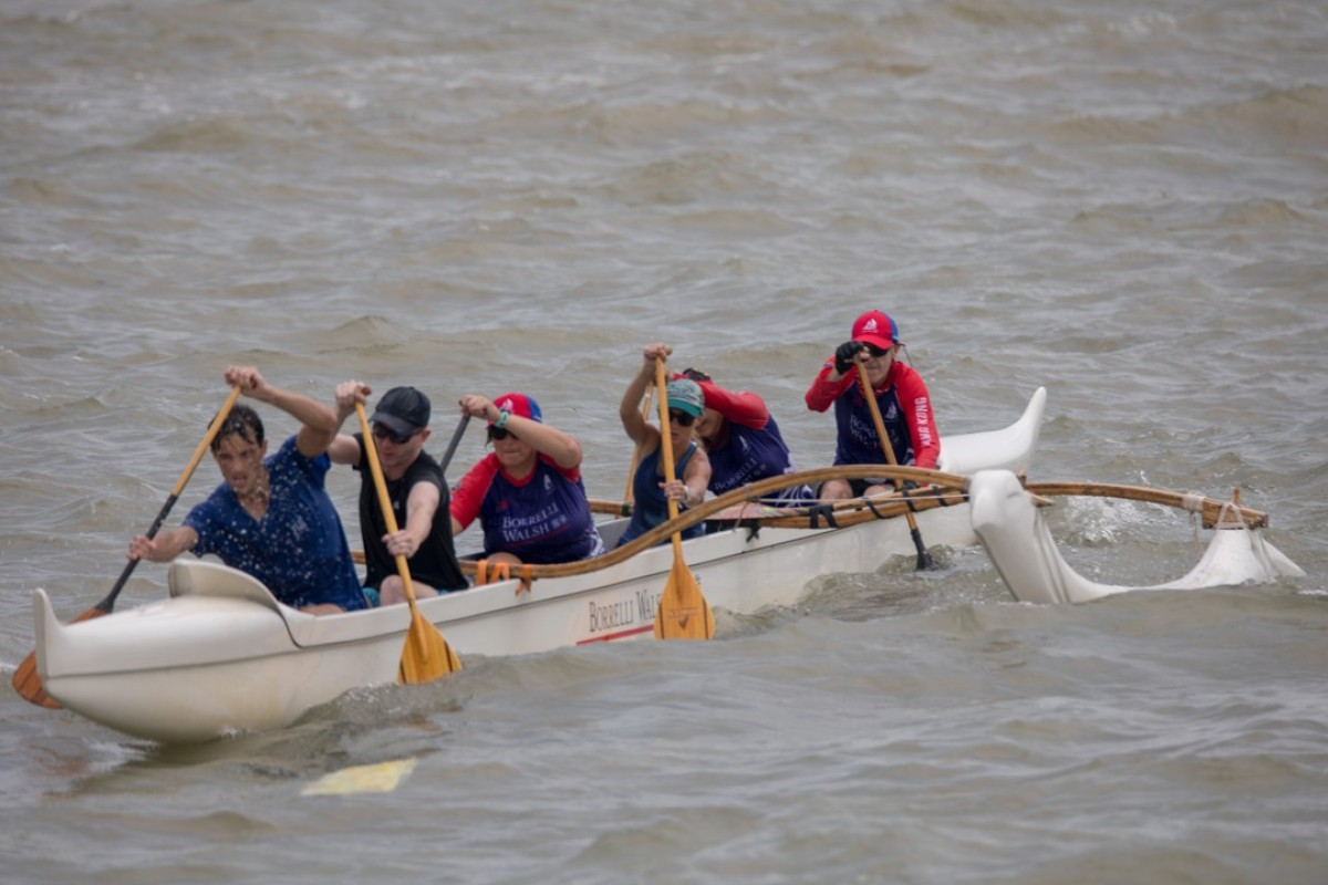 Paddlers make their way around Lantau for the Dolphin Quest. Photo: James Branch