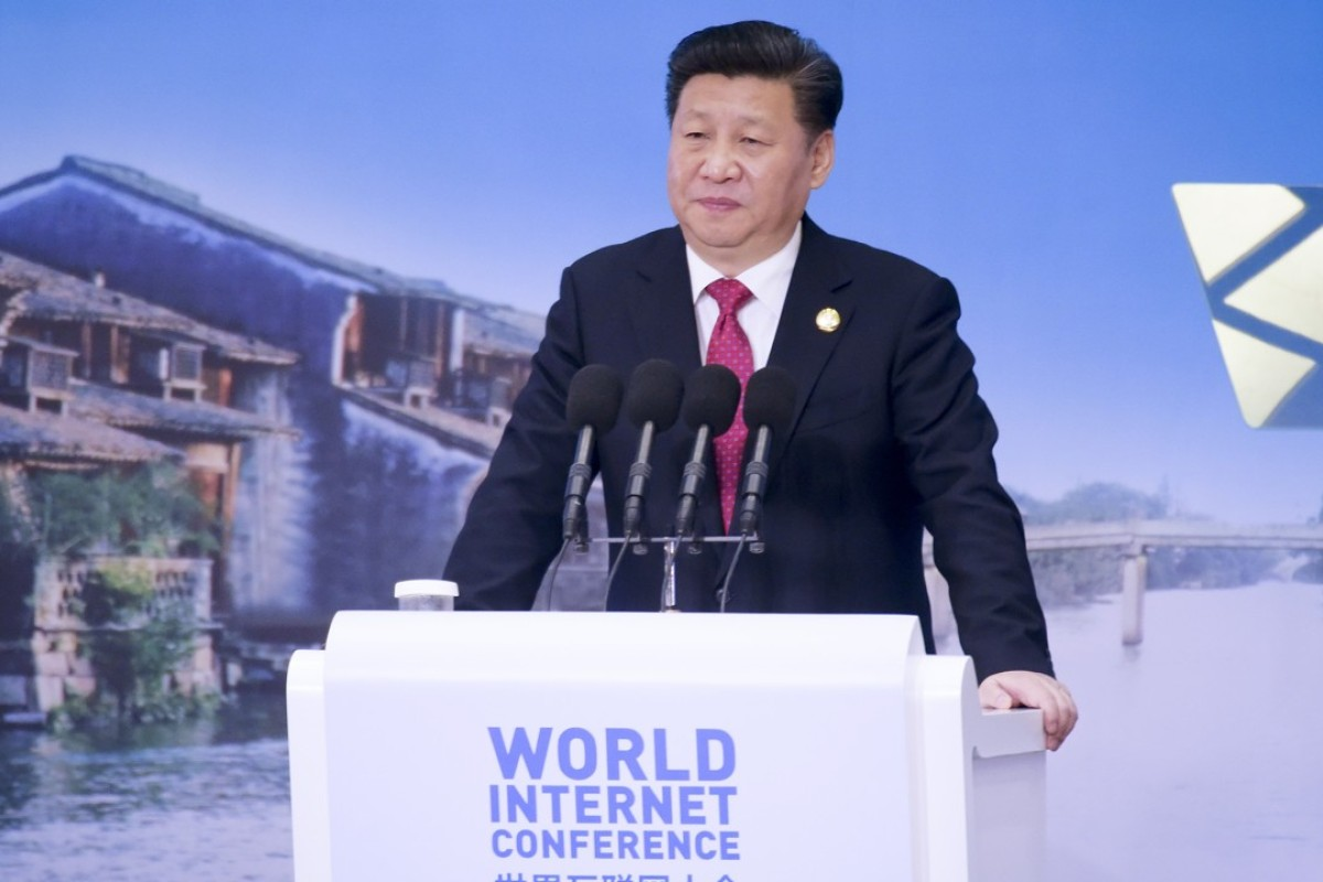 Chinese President Xi Jinping addresses the World Internet Conference in Wuzhen Town, east China's Zhejiang Province. Photo: AP