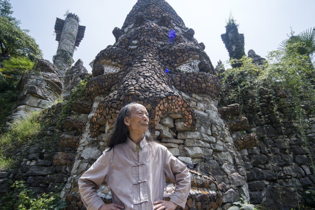 Chinese artist Song Peilun in his hidden utopia, Yelang Valley, on the outskirts of Guiyang. Picture: Zigor Aldama