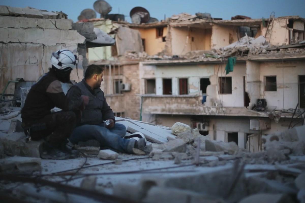 A still from Last Men in Aleppo. Pictures: Grasshopper Film.
