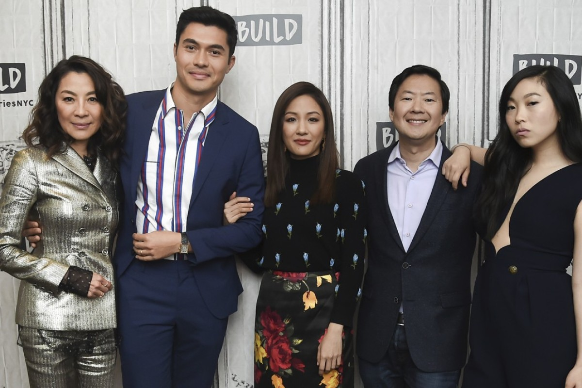 'Crazy Rich Asians' cast members (from left) Michelle Yeoh, Henry Golding, Constance Wu, Ken Jeong and Awkwafina. Photo: Invision/AP