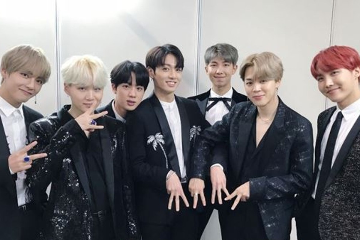 The seven-member K-pop boy band BTS, which will give a speech at the United Nations headquarters in New York today in support of Unicef's youth initiative, 'Generation Unlimited'. Photo: Twitter/BTS