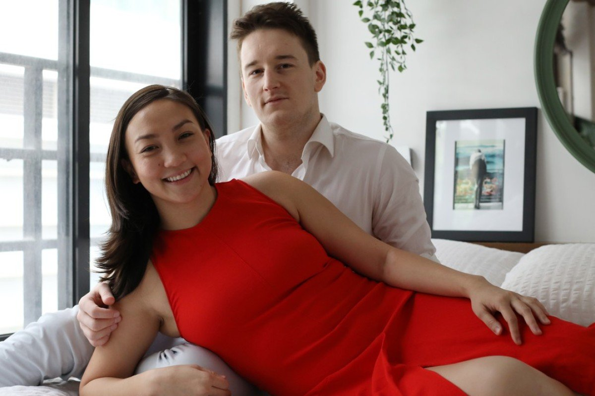 Alison Tan and Sotiris Tsouris, the couple behind app-based sex toy Cunni. Picture: Tory Ho