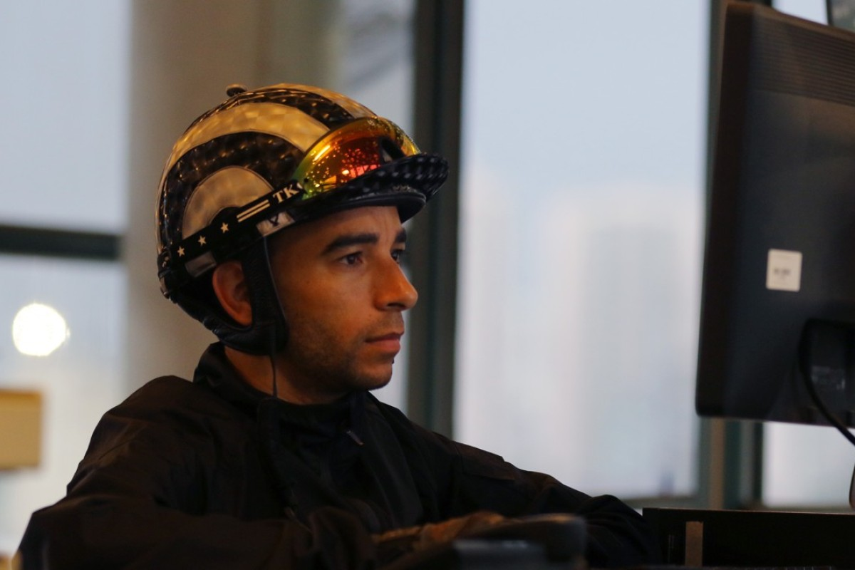 Jockey Joao Moreira studies. Photos: Kenneth Chan