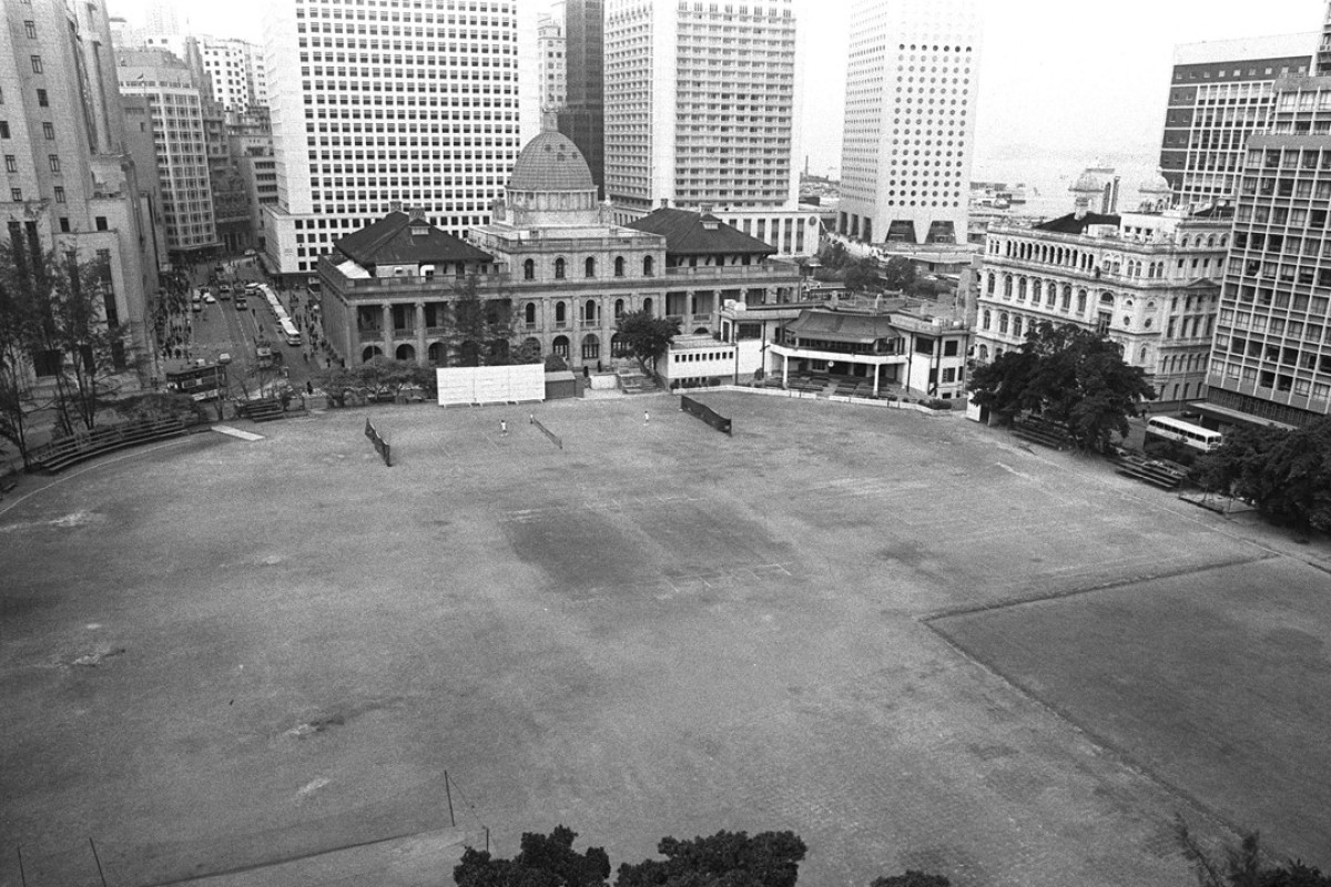 The Hong Kong Cricket Club in Central, with the Supreme Court in the background, in 1974. Picture: SCMP