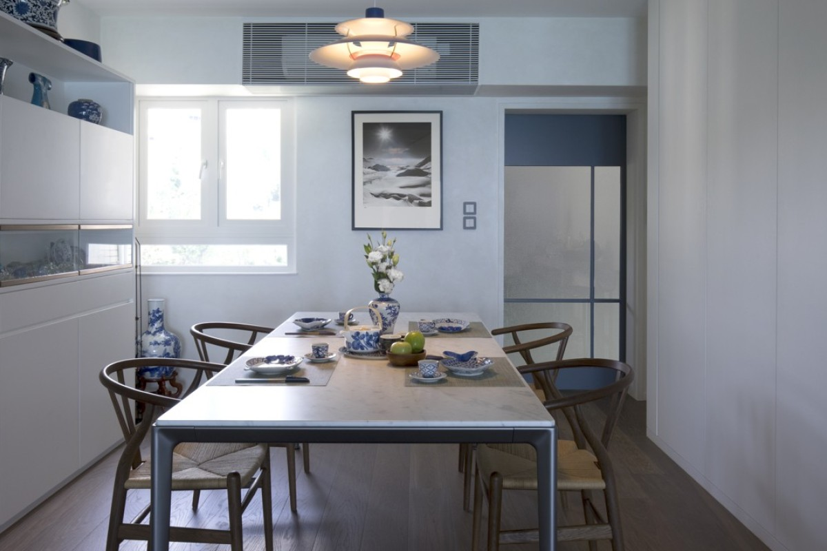 Blue hues add a sense of tranquillity to this Pok Fu Lam flat, designed by Keith Chan from Hintegro. Photography: Keith Chan