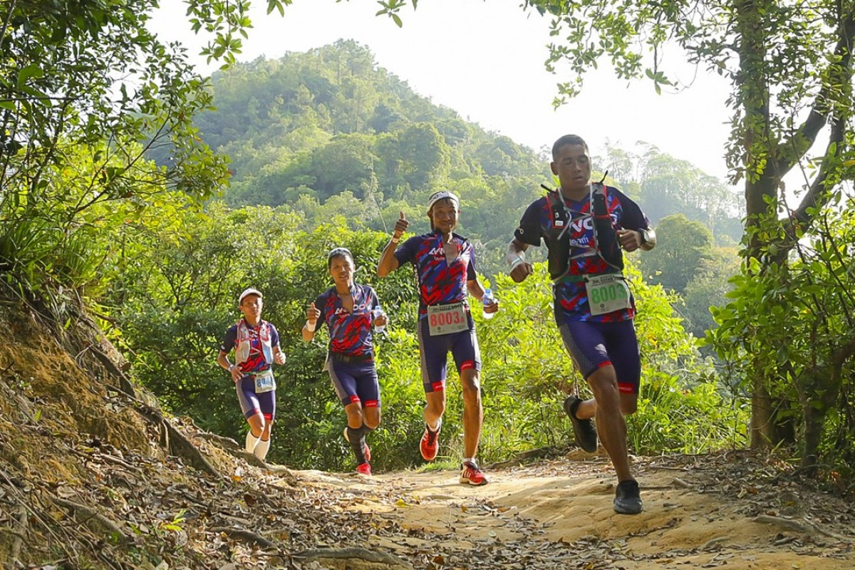 AWOO Team Nepal in action at the 2017 Oxfam Trailwalker. Photo: Claus Rolff