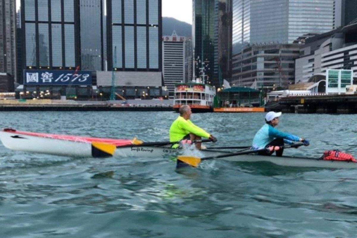 Ian Brownlee is the oldest person rowing in the Around the Island Race at 69 years old. Photos: Handouts