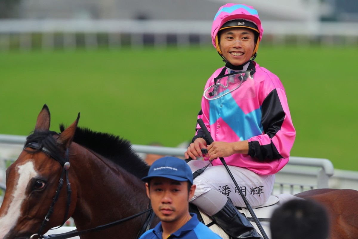 Matthew Poon after riding one of his 14 winners this season at Sha Tin. Photos: Kenneth Chan