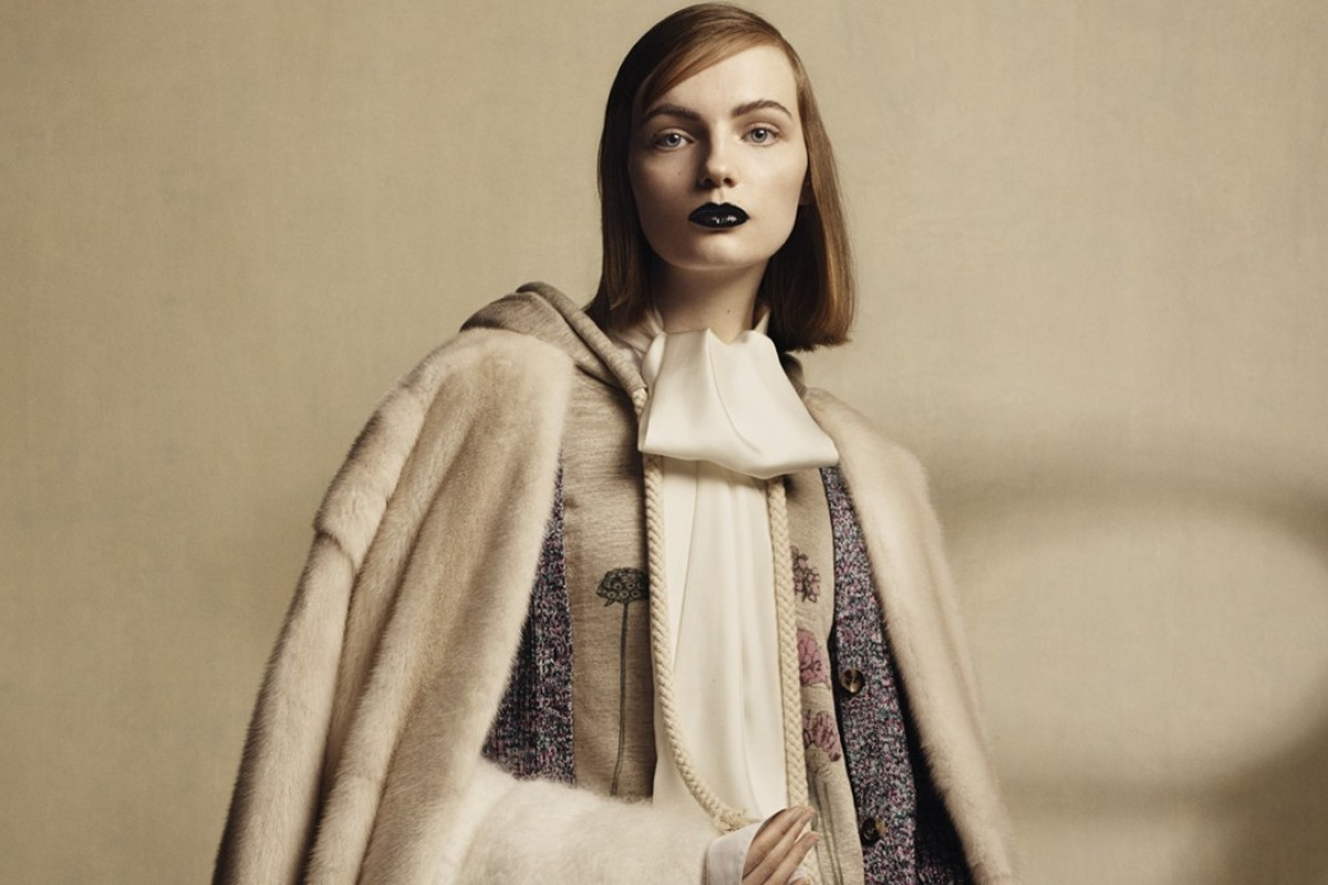 Loewe's seasonal collection was inspired by the works of Charles Rennie Mackintosh.