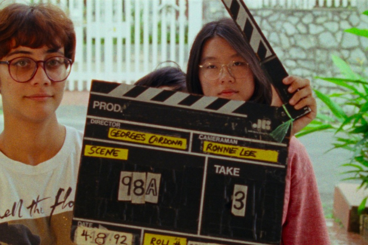 Producer Sophia Siddique Harvey (left) and director Sandi Tan filming the original Shirkers in 1992. Picture: Netflix