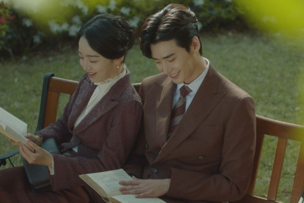 Actress Shin Hye-sun (left) and actor Lee Jong-suk in a scene from the forthcoming two-part South Korean television drama, 'Hymn of Death', based on the life of Korean soprano, Yun Sim-deok, which will be shown on Netflix, starting on December 14.