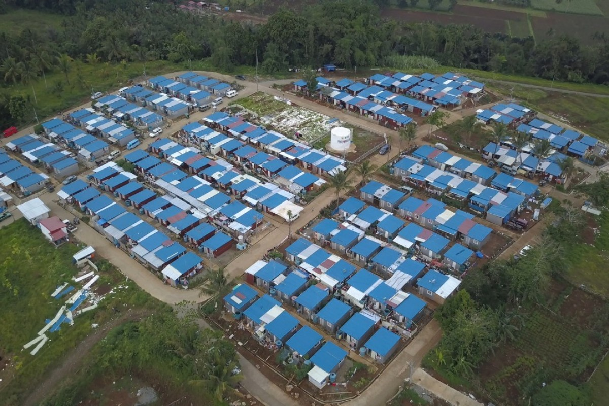 Sagunsungan Temporary Shelter houses some of those displaced by the fighting. Photo: Chris Healy