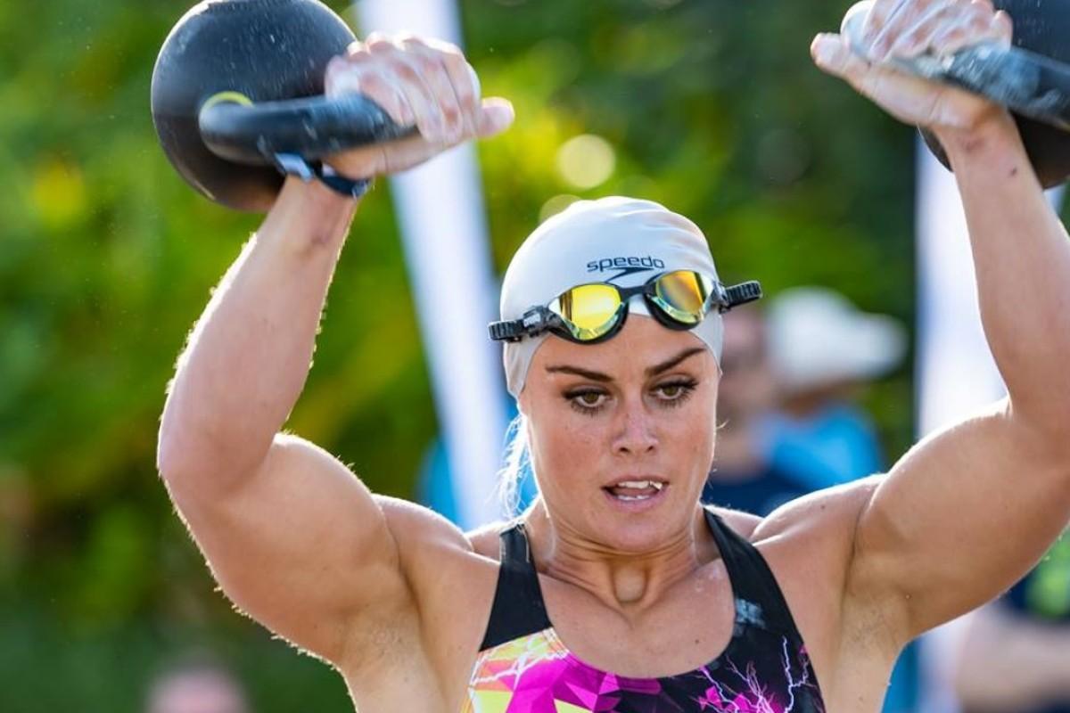Sara Sigmundsdottir competes on day one. Photos: Dubai CrossFit Championship