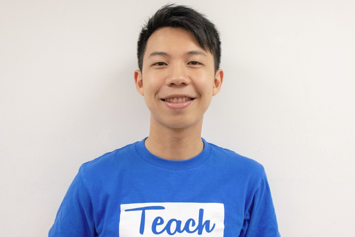 Teach4HK founder Arnold Chan, who was formerly an analyst at Goldman Sachs.