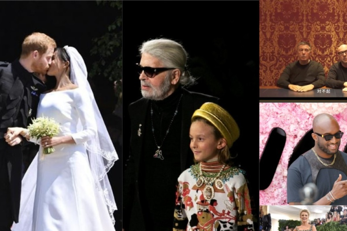 2018 witnessed a series of big events in fashion: Meghan Markle married the UK's Prince Harry; Chanel's Karl Lagerfeld said no to fur; Dolce & Gabbana apologised to China for its controversial campaign; Virgil Abloh made his debut at Louis Vuitton; and the Met Gala red carpet was heavily studded with stars.