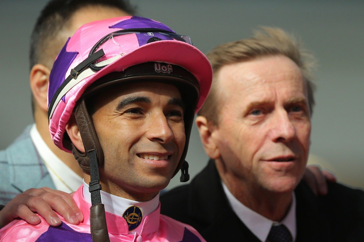 Jockey Joao Moreira and trainer John Size. Photos: Kenneth Chan
