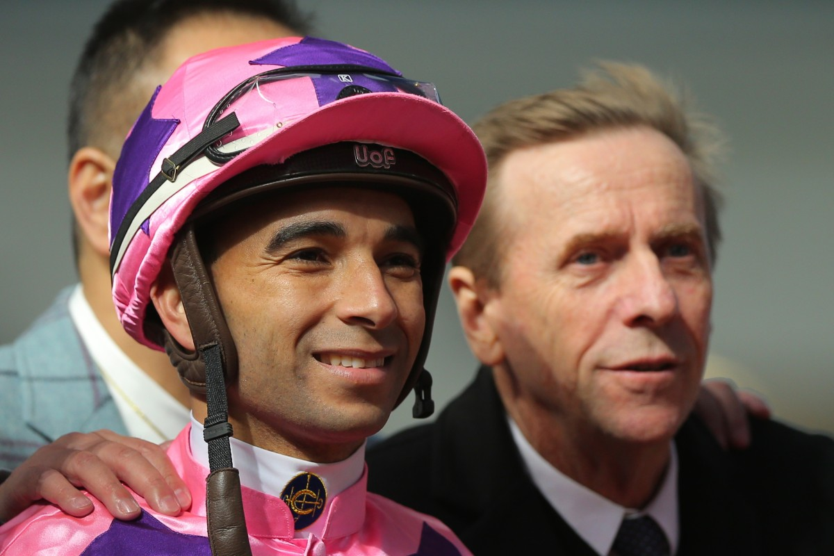 Jockey Joao Moreira and trainer John Size. Photos: Kenneth Chan