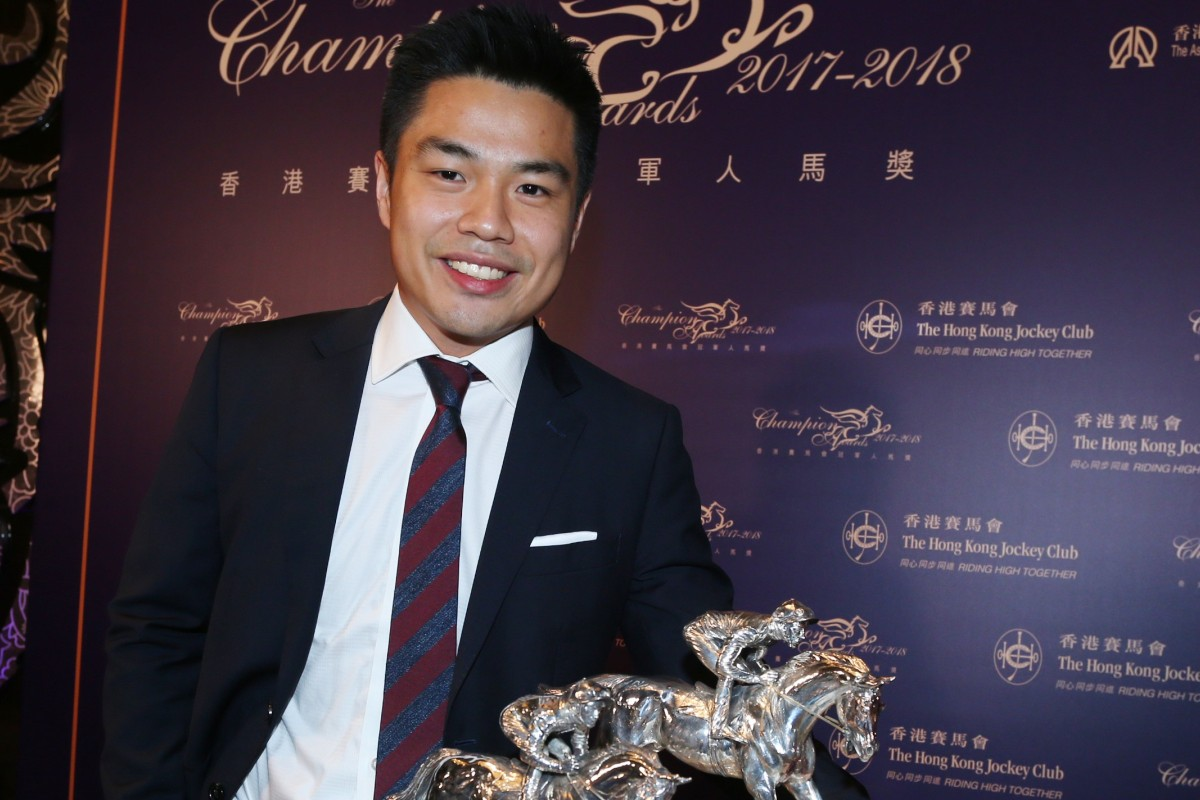 Beauty Generation's owner Patrick Kwok with his Horse of the Year award. Photos: Kenneth Chan