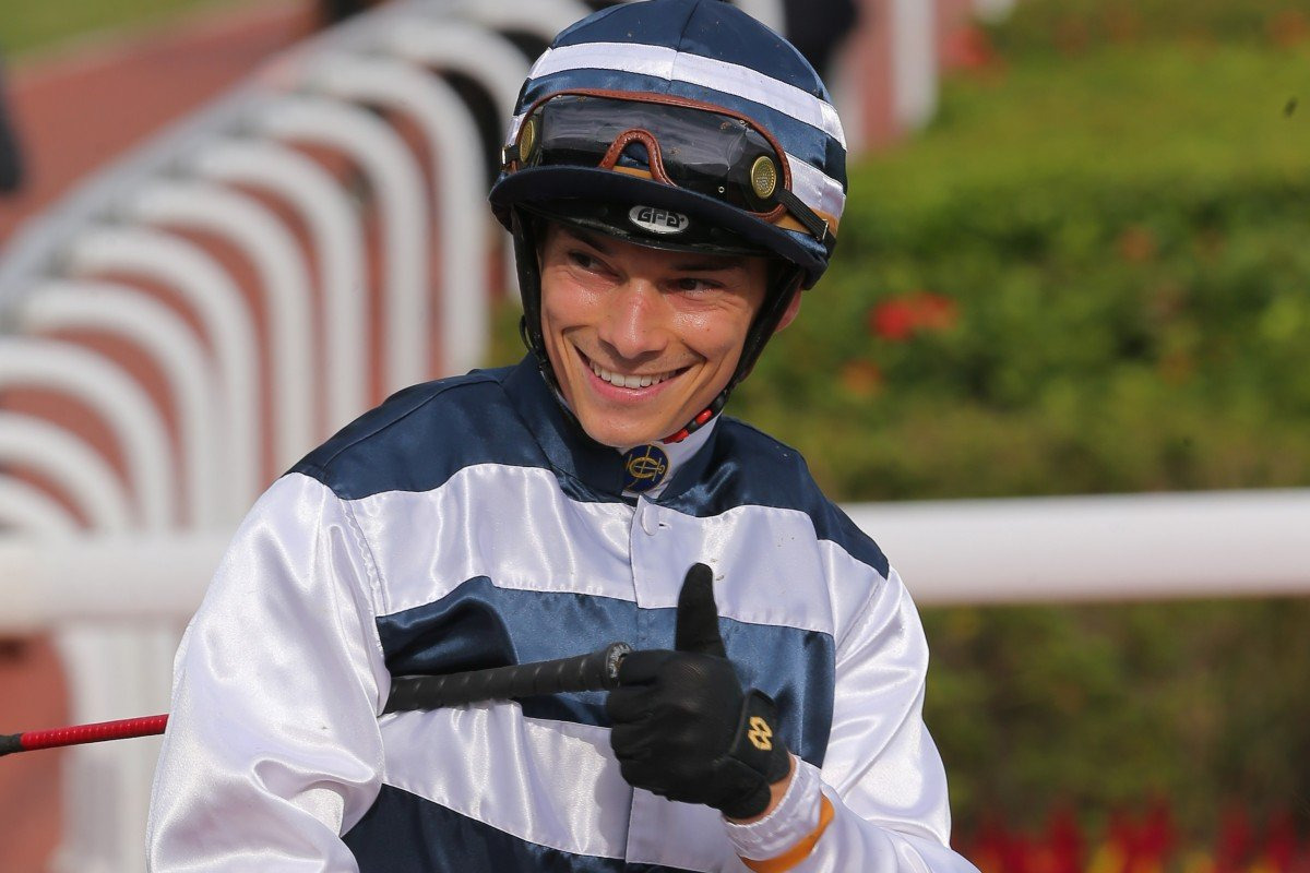 Alexis Badel is all smiles after landing another winner. Photos: Kenneth Chan