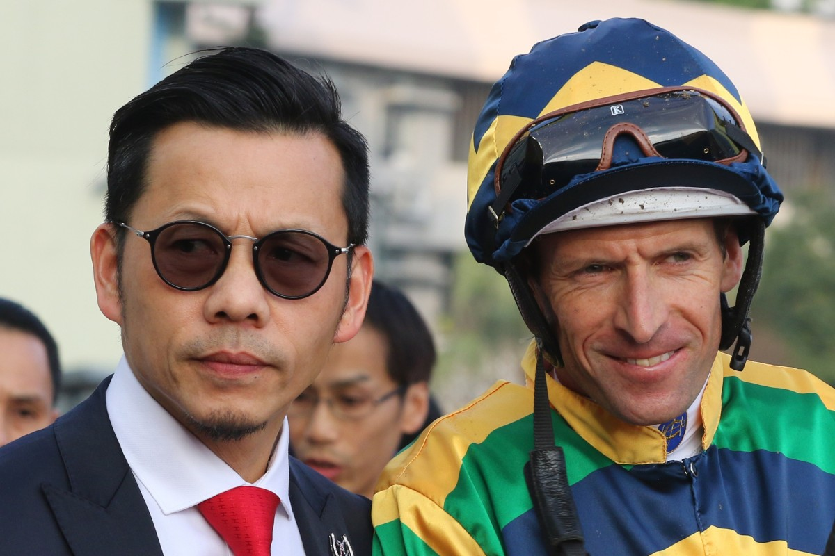 Trainer Frankie Lor and Hugh Bowman after they paired up to win last month's Hong Kong Classic Mile at Sha Tin. Photos: Kenneth Chan