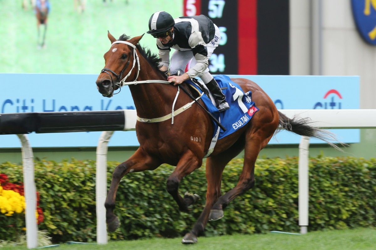 Exultant coasts to victory under Zac Purton. Photos: Kenneth Chan