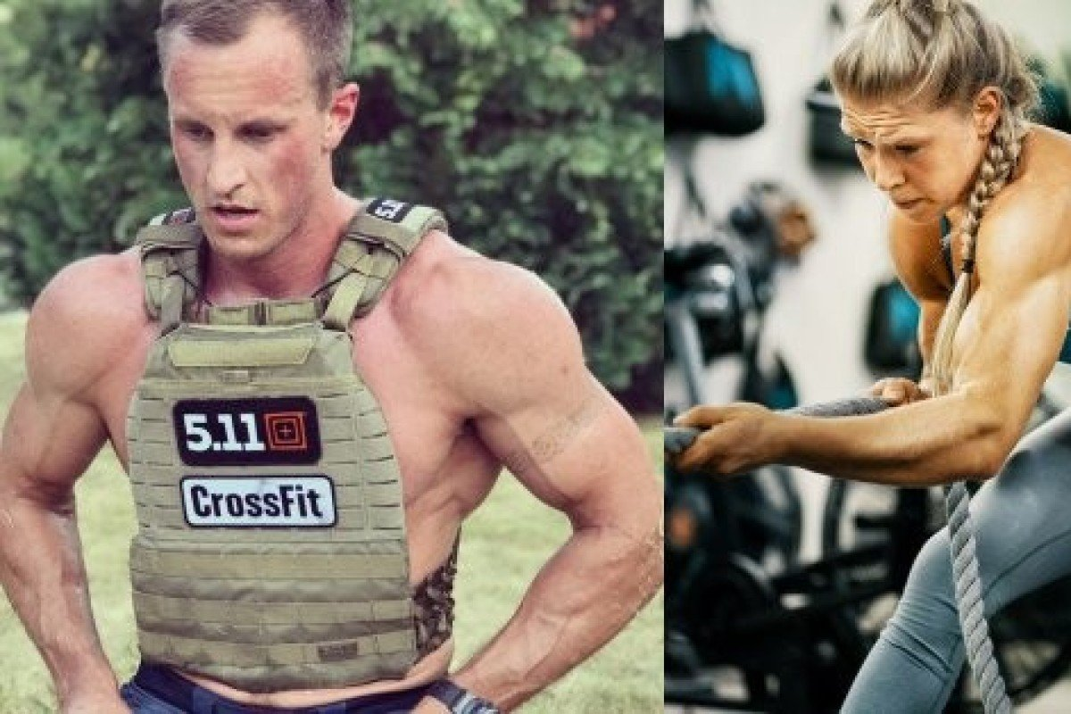 Snorre Fjaagesund (left) and Mikaela Norman won the CrossFit Open 19.1 workout. Photo: CrossFit Games