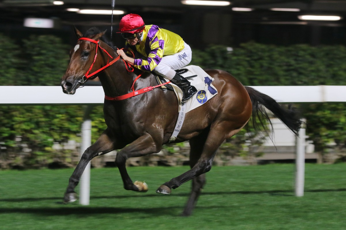 Champion's Way races clear at Happy Valley under jockey Zac Purton last month. Photos: Kenneth Chan