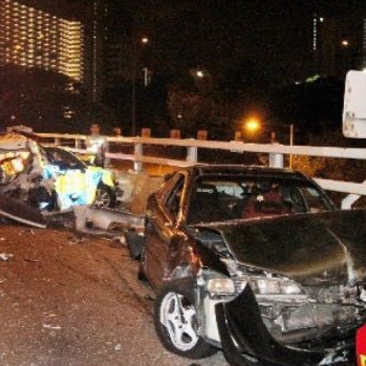Hong Kong bus crashes into police vehicle and car from