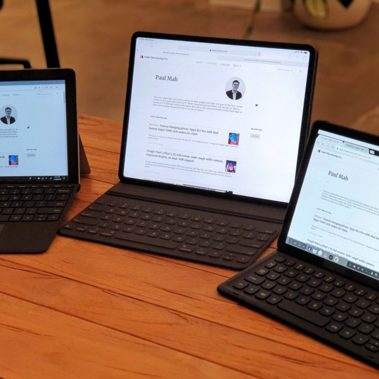 Apple, Samsung and Microsoft tablets tested to find the best one for
