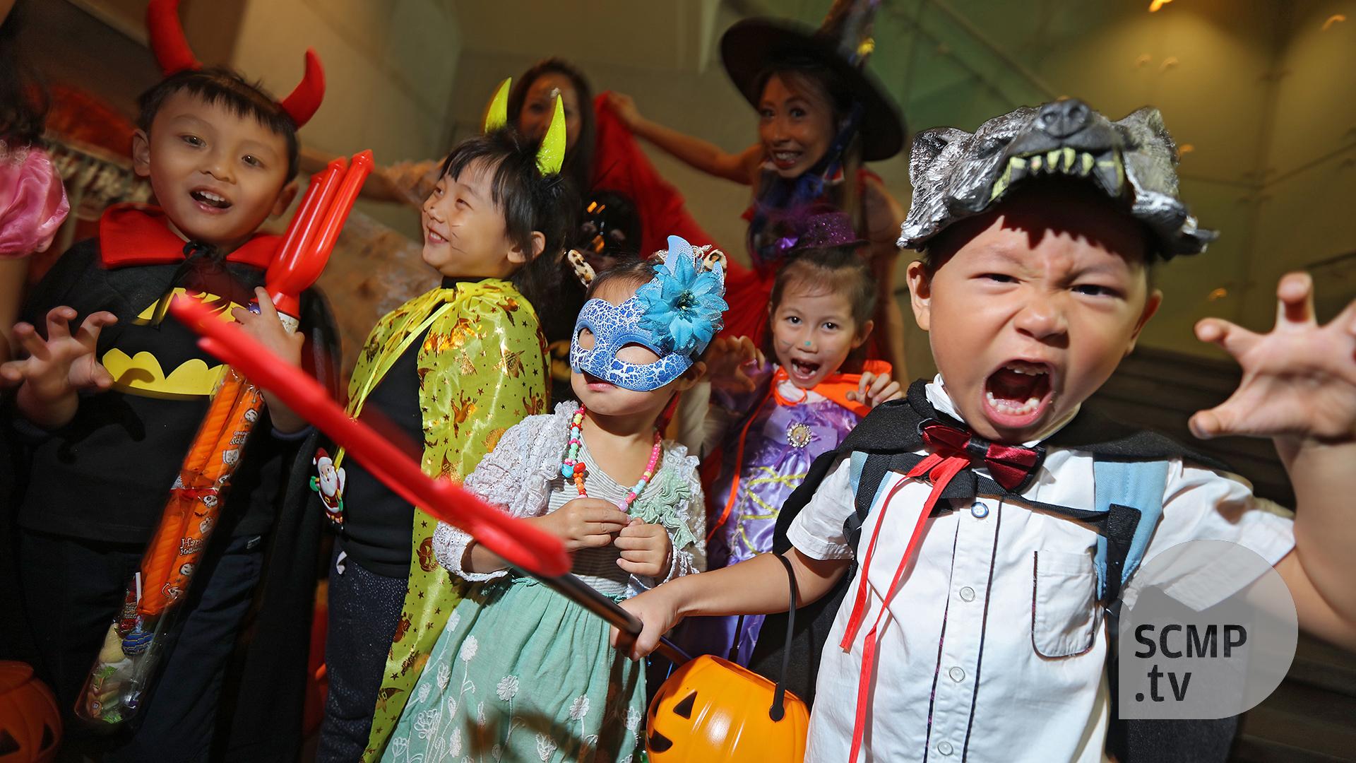 hong kong celebrates halloween   south china morning post